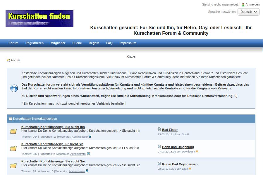 Kurschatten Forum